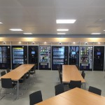 A wide view of the vending machines in Aldi